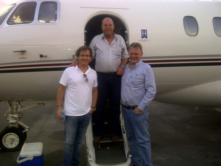 Arrive in Cape Town with Company Jet